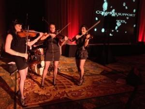 Violin 1, Violin 2, Viola and Drums performing Rock Music