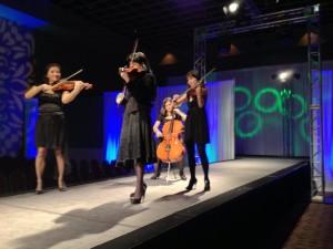 Violin 1, Violin 2, Viola & Cello performing Rock Music